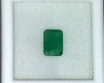 Faceted Emerald Gems