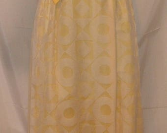 """MEMORIAL DAY SALE 70s Vintage Mod Prom Dress-Bridal Wedding-Size 2-xs-34""""-Small  Bust-Organdy & Linen-Hipster-Gidget"""