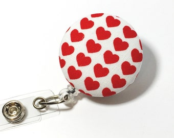 Valentine's Day Name badge Retractable Badge Reel badge reel nurse badge reel retractable badge holder id badge holder nurse badge clip