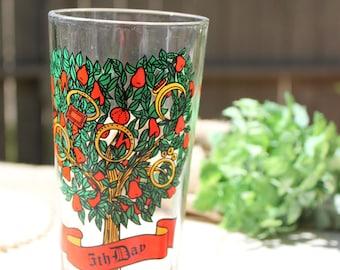 5th day of Christmas glass, 12 days of Christmas glasses, The Fifth day of Christmas glass