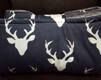 On the Go Changing Pad-Navy Buck -Woodland