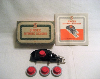 Singer Automatic Zigzagger for 301 Sewing Machines Vintage 1950s Sewing Machine Attachments Part 161103