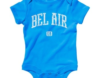 Baby One Piece - Bel Air Los Angeles Infant Romper - NB 6m 12m 18m 24m - Baby Shower Gift, Bel Air Baby, California, LA Baby, Sunset Blvd