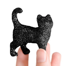 Glitter Critter Kitty. YOU CHOOSE Color! Cute Gift for Cat Lovers, Animal Rescuers, Party Favors for Weddings, Baby Showers or Nursery Decor