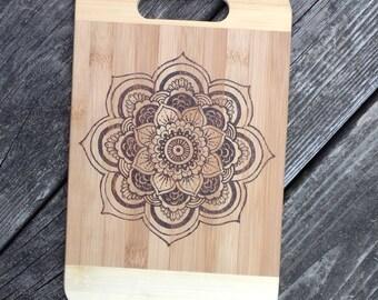 Mandala Bamboo Cutting Board