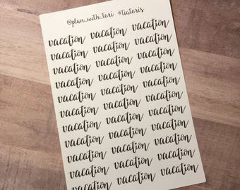 Vacation Planner Sticker