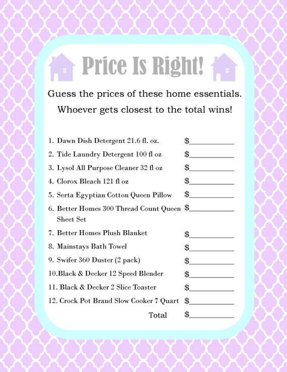 Items Similar To House Warming Party Price Is Right Game