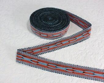 Woven Trim (6 yards), Woven Border, Cotton Ribbon, Grosgrain Ribbon, Dress Border, Border Trim, Ikat Fabric, R227
