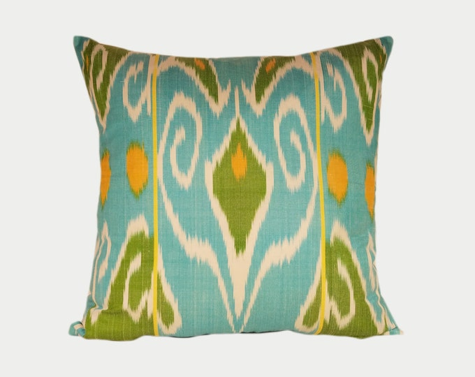 Ikat Pillow, Ikat Pillow Cover NPI103, Ikat throw pillows, Designer pillows, Decorative pillows, Accent pillows