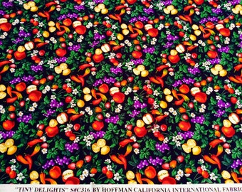 Hoffman Fruit and Veg Cotton Fabric Remnant