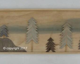 Home Decor-Wood Wall Art- Reclaimed Wood Wall Art-  Mountains-Rustic Wall Decor, Rustic Wall Art-Wall Hangings