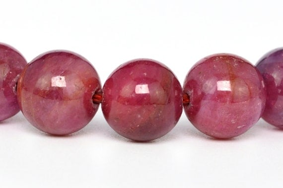 "8MM Ruby Beads Grade AAA Genuine Natural Gemstone Full Strand Round Loose Beads 15.5"" BULK LOT 1,3,5,10 and 50 (100313-285)"