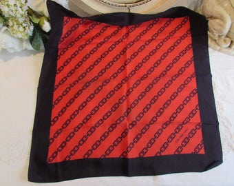 Beautiful vintage French designer scarf, Céline, Paris.  Paris chic....
