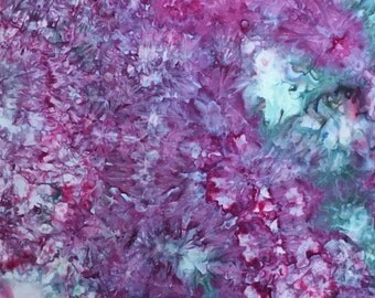 Ice Dyed Fabric, Raspberry Peacock, Fat Quarter (MB) #6