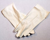 RESERVED NOS Vintage Ivory Soft Leather Opera Gloves