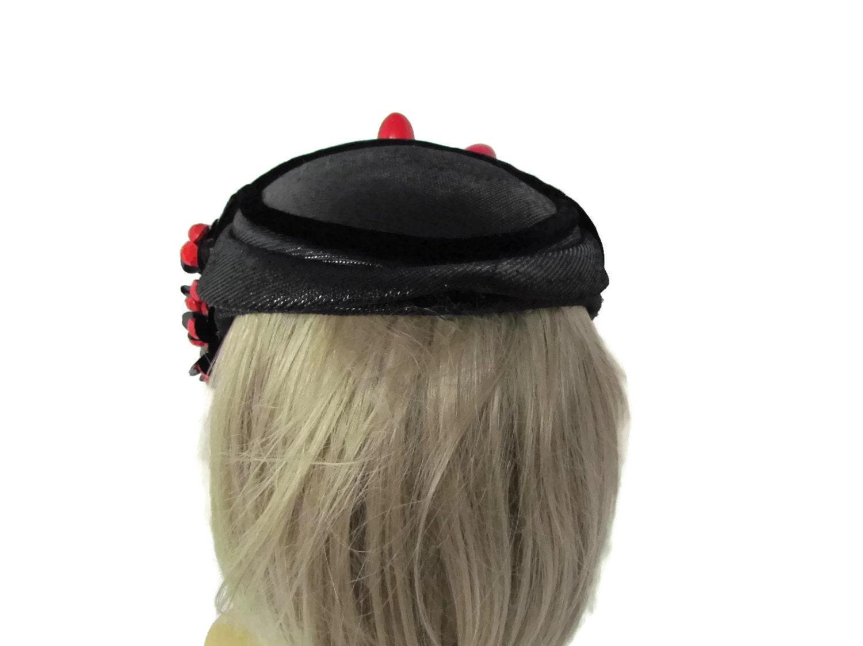 unique vintage hat 1940s fruit hat fascinator hat