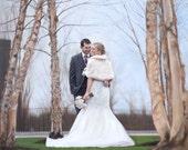 Reserved for Jason  - CUSTOM PORTRAIT - Wedding Portrait - Wedding Painting - Oil Painting - Wedding Gift - Anniversary Gift