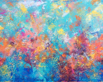 "Abstract painting - 'I See the Light' - acrylic painting on canvas - size 100cm x 75cm (40"" x 30"")"