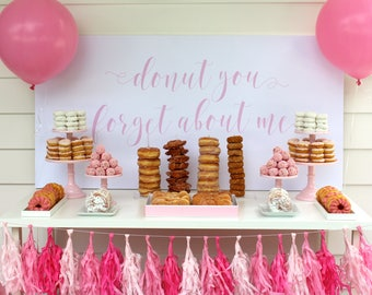 Donut You Forget About Me Backdrop by Bloom