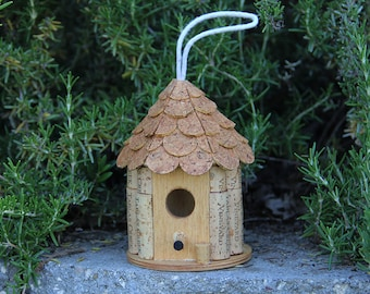 Little Gazebo birdhouse, wine cork art