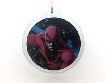 Upcycled Comic Book Keychain Featuring - Daredevil