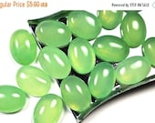CLOSING SALE Green Jade flat back cabochon - 14 x 10 mm - stone for bezel - for jewelry making