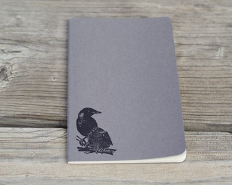 Crow Raven Lined Journal Notebook Diary