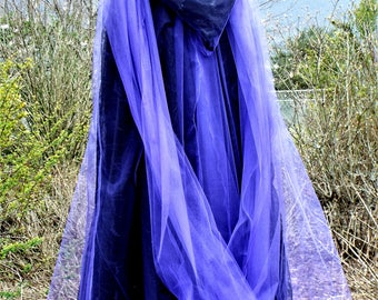 The Purple Witch of Passion Halloween Cape