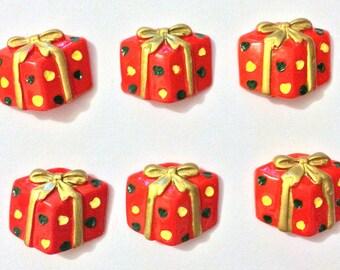Christmas Needle Minder, Gift Box Needle Minder, Festive Needle Keep, Pin Holder, Fridge Magnet, Stitch Minder, Needle Holder, Needle Keep