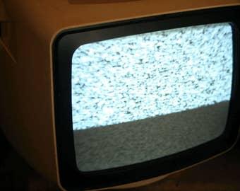 Vintage TV Portable, TV Portable Television, Television Retro Electronics Vintage Televisions, 1980s, Working Condition, Set Design