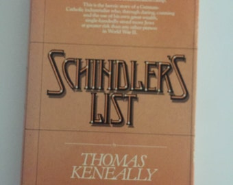 Schindler's List by Thomas Keneally (1982, Hardcover)