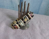 Dionysus Wooden Devotional Bracelet. Pagan Devotional Jewerly.  Bacchus.