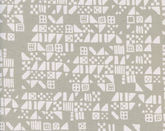 Black and White 3 - Tiny Tiles in Natural - Cotton + Steel - 5121-01 - 1/2 yard
