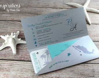 Boarding Pass, Wedding Invitations, Ticket to Paradise, Invitations, Wedding