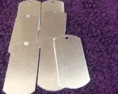 "1"" X 2"" Blank Dog Tag, Aluminum Dog Tag, 23 Bulk order Stamping blank,  Hand stamping Tags"
