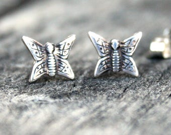 Sterling Silver Post Earrings - Butterfly