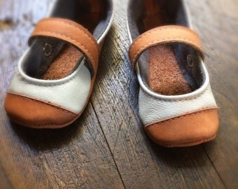 Leather Mary Janes Light and Tan 6 months, 12 months, 18 months