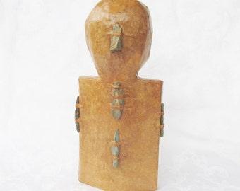 Paper Mache Man Sculpture