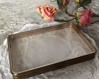Vintage Gold Metal and Plexiglass Purse Photo Protector.  Protective Keeper Case for Any Item.