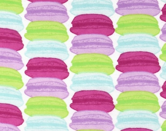Snuggle Flannel Fabric - Multicolor Macaroons - 1 Yard 2/3 Yards