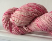 """Hand Dyed Sparkle Sock Yarn """"Peppermint Patty"""" 100g 400m"""