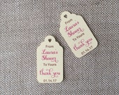 From Our Shower to Yours - Customized Baby Shower Favor Tags - Personalized Baby Shower Tags - Gift Tag - Gift Tag With Saying
