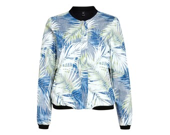 "ALOHA bomber jacket ""blue Hawaii"" large size"