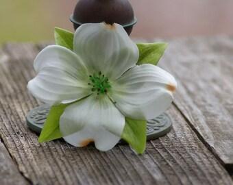 Dogwood Boho Hair clip wedding headpiece, woodland, bridal hair flower, rustic wedding