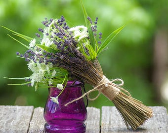 SMALL Boho Bouquet hand tied Dried lavender