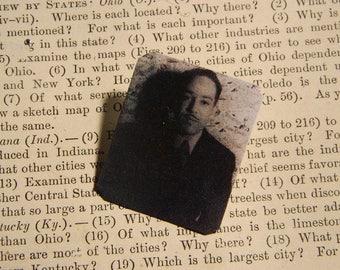 Langston Hughes brooch lapel pin Literature African American History