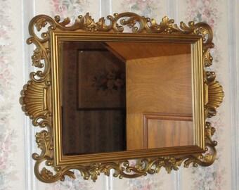 vtg scalloped mirror etsy