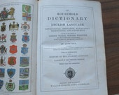 William Collins, Sons & Company Leather bound vintage Scottish/English household family dictionary