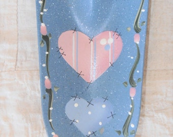 Vintage Tole Painted Heart Trowel or Garden Tool