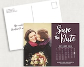 Postcard Save the Date, Photo Save the Date, Printable Save the Date, Printed Save the Dates, PDF, DIY Save the Date, Calendar Save the Date